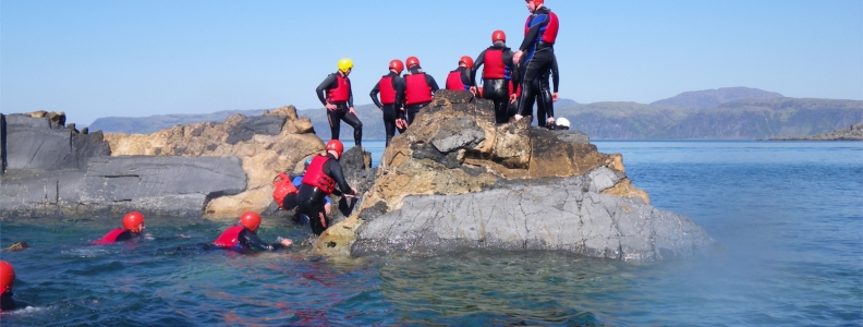 Coasteering Training Course Collaboration with the WSA