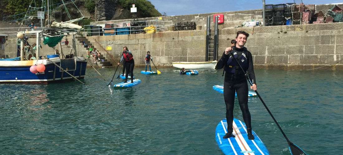 SUP in Newquay with Newquay Water Sports Centre