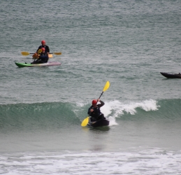 Waveski Kayak Surfing in Newquay with Newquay Water Sports Centre