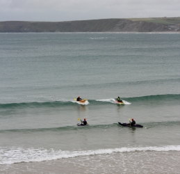 Epic Waveski lessons in Newquay Cornwall with Newquay Water Sports Centre