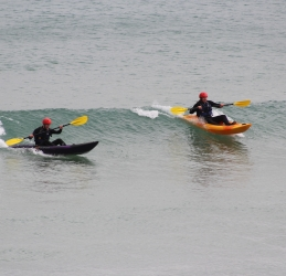Waveski lessons in Newquay with Newquay Water Sports Centre